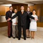 Portrait of hotel staff