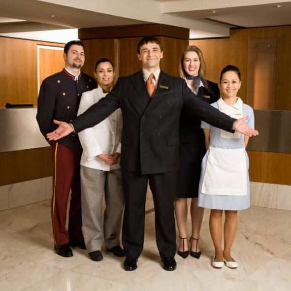 Portrait of hotel staff