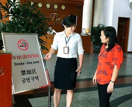 môi trường không hút thuốc trong hotel