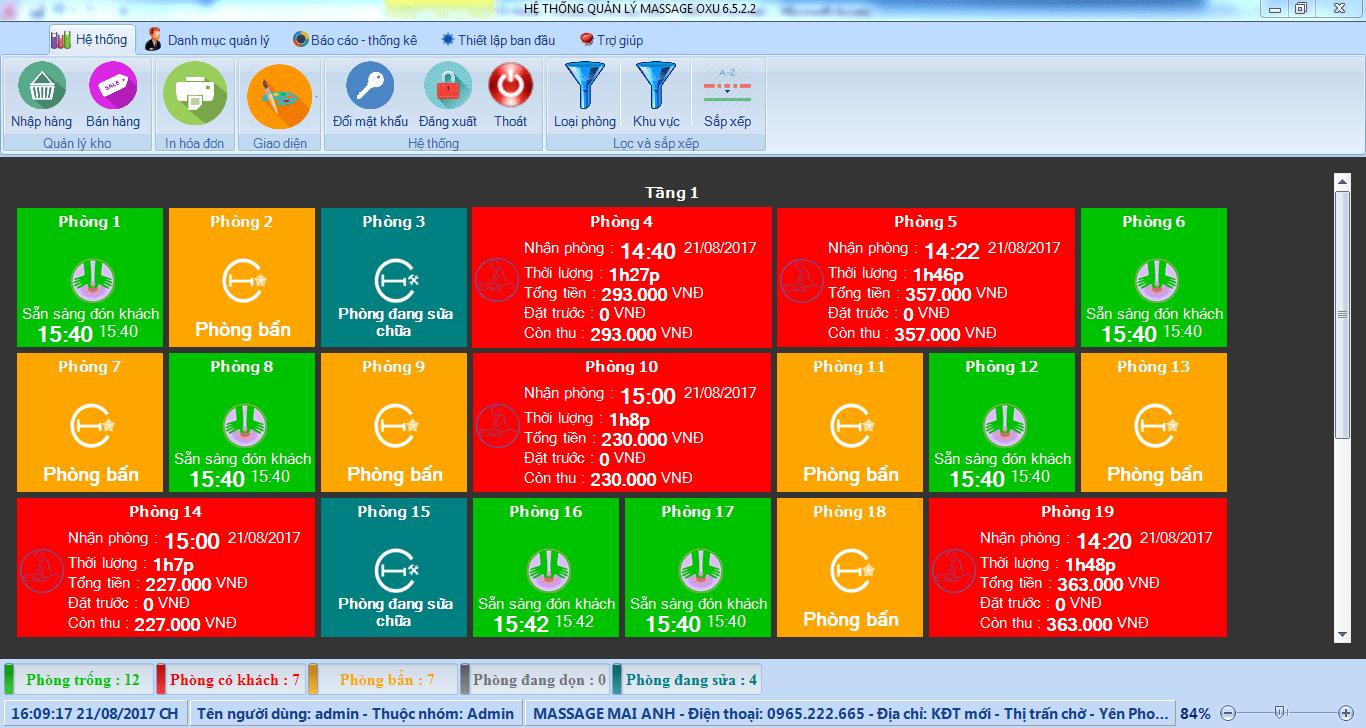 Tích hợp modul massage trong phần mềm quản lý khách sạn
